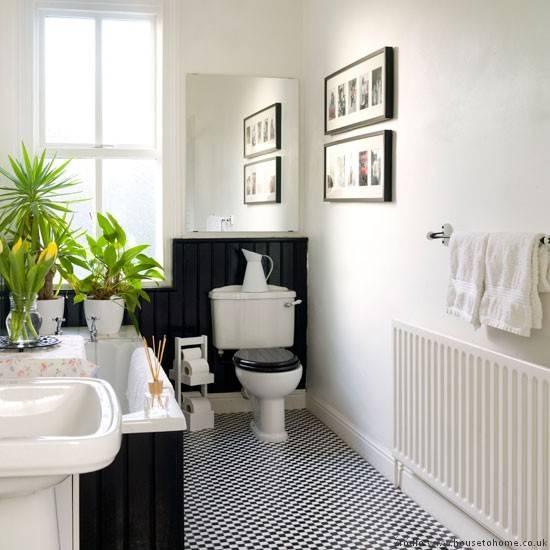 29 Gray And White Bathroom Tile Ideas And Pictures: Małe I Duże Stylizacje łazienki Retro