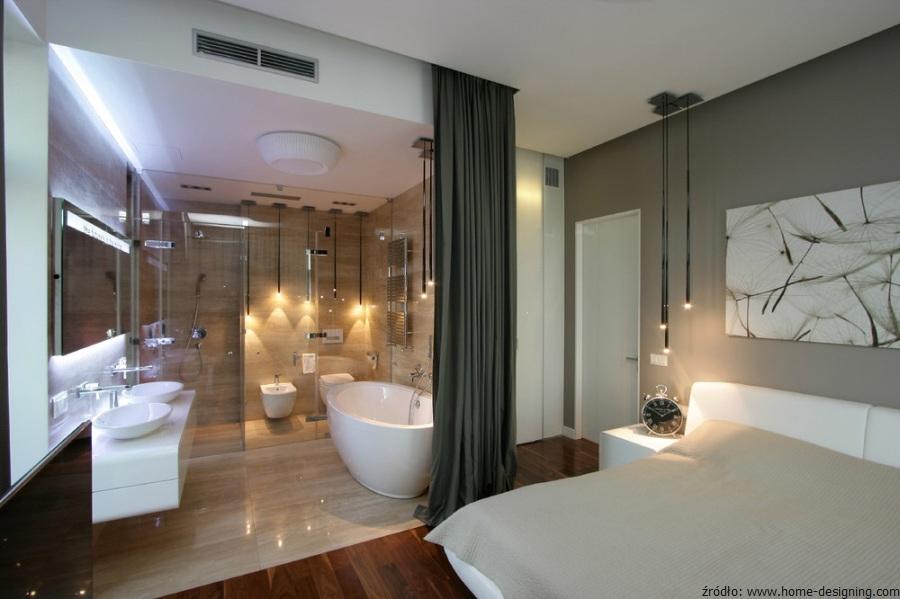 Sypialnia z azienk tak czy nie azienki projekty for Suite parentale de luxe