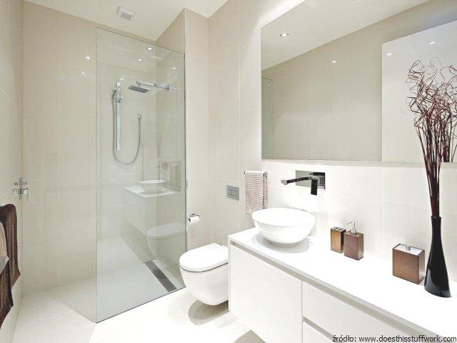 łazienka Cała W Bieli łazienki Projekty Zdjęcia