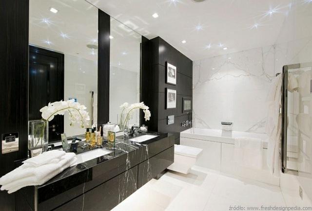 Czarno Na Białym Aranżacje łazienek Blackwhite łazienki