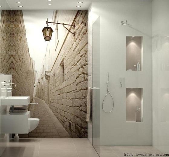 Jak Odmienić ścianę W łazience Beton Fototapeta I Szkło