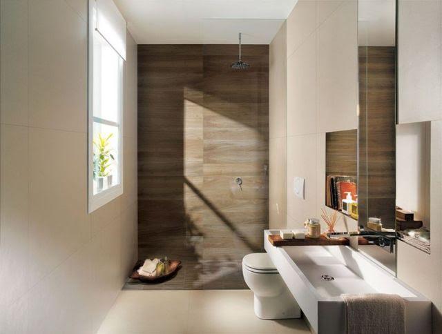 Płytki drewnopodobne do łazienki  Łazienki  projekty, zdjęcia  łazienki na -> Banheiro Decorado Marron