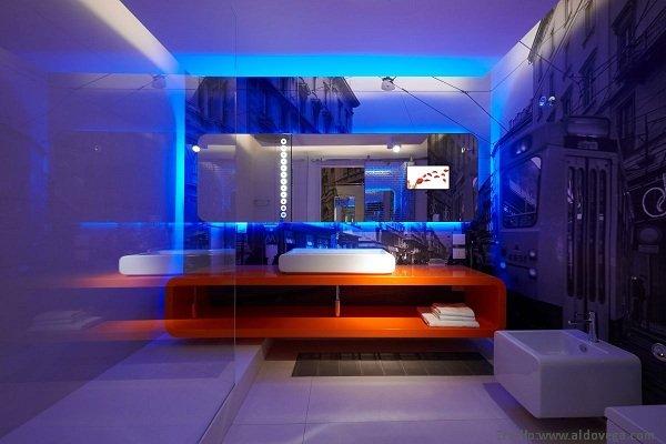 Pomys y na o wietlenie azienki azienki projekty zdj cia azienki na zam wienie meble - Sistemas de iluminacion interior ...