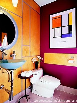 Aranżacje łazienki wkolorze
