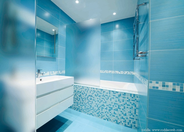 Blue Color Bathroom Design : Niebieska azienka wie a i elegancka azienki