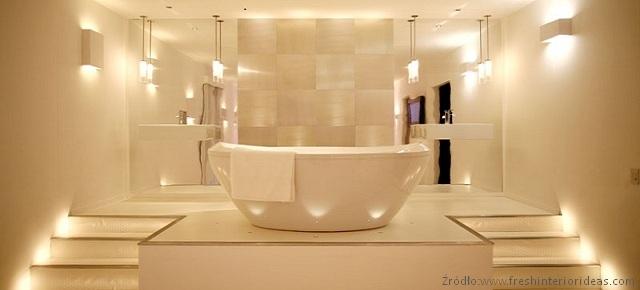 Pomysły Na Oświetlenie łazienki łazienki Projekty
