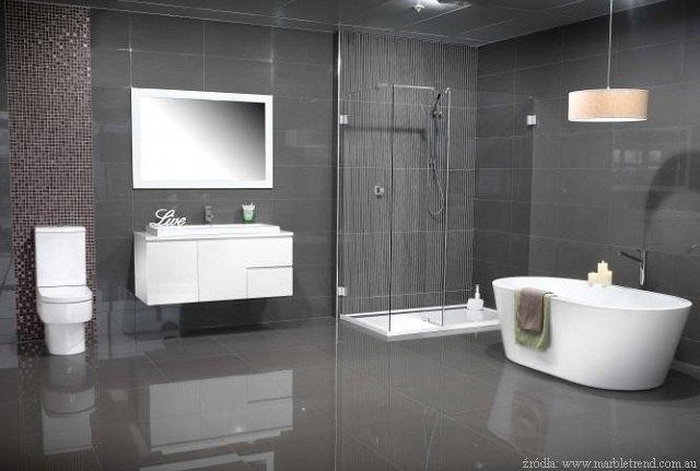 Szara łazienka Nowoczesna I Elegancka łazienki Projekty