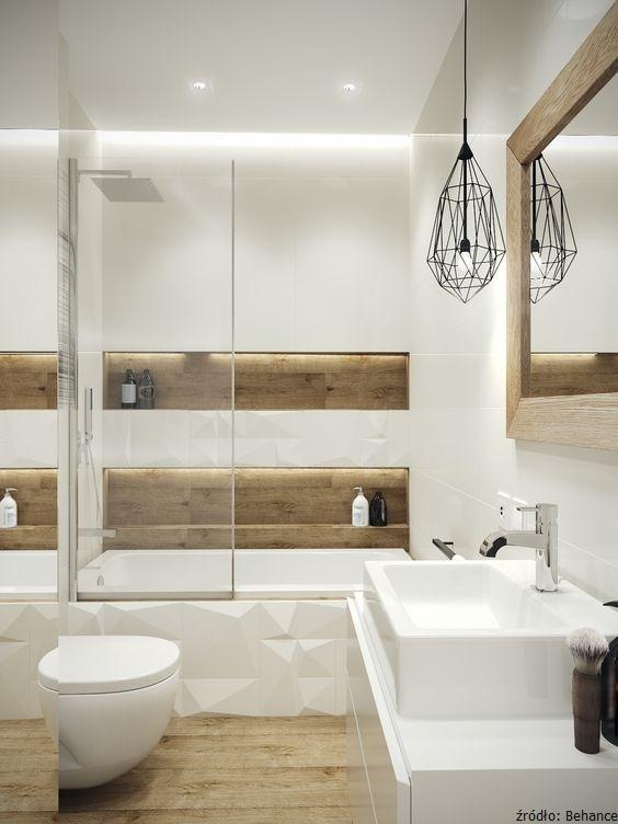 lampy łazienkowe przy lustrze skandynawskie