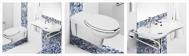 Łazienka dla seniora - Łazienki - projekty, zdjęcia - łazienki na zamówienie, meble łazienkowe ...