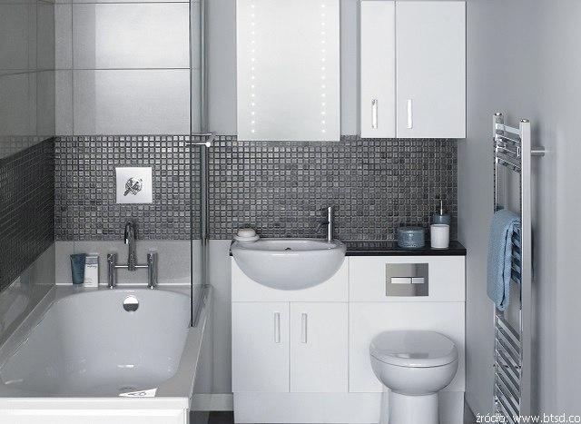 Mała łazienka z wanną - Łazienki - projekty, zdjęcia - łazienki na zamówienie, meble łazienkowe ...